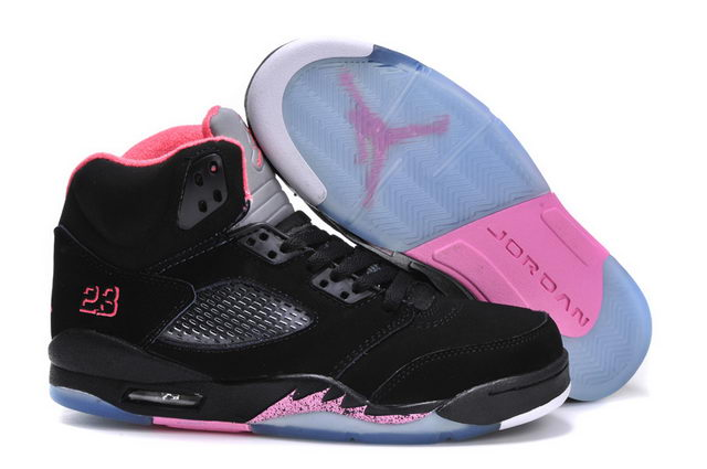 WMNS Jordan 5 Shoes black/pink